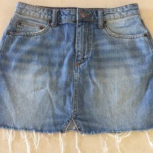 Urban Outfitters light denim mini skirt